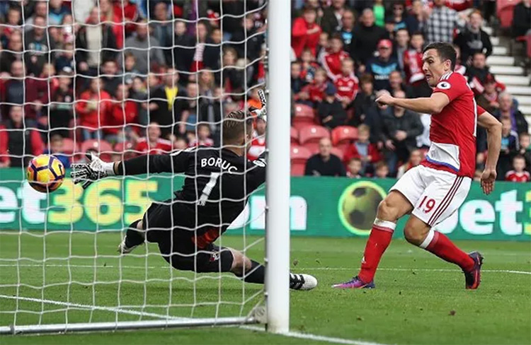 Downing scores for Middlesbrough