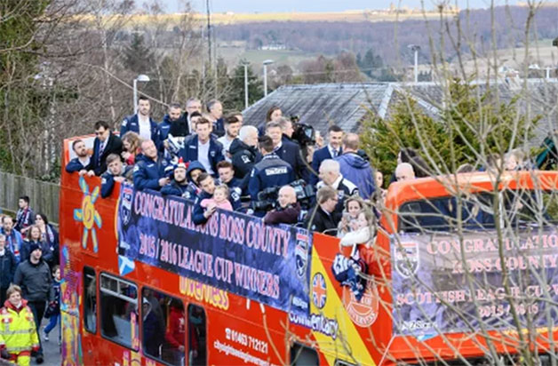 Ross County Champions Bus Parade...