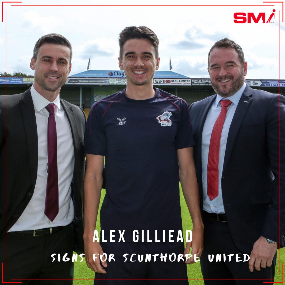 Alex Gilliead signs for Scunthorpe