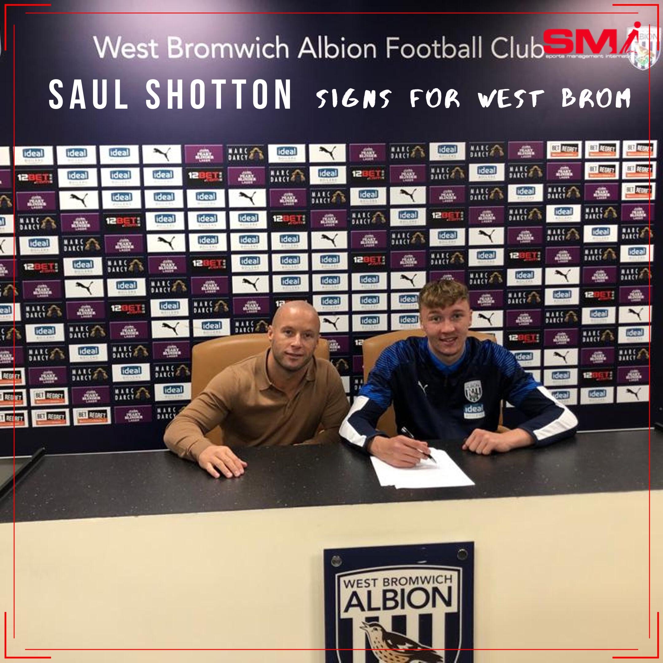 Saul Shotton signs for WBA