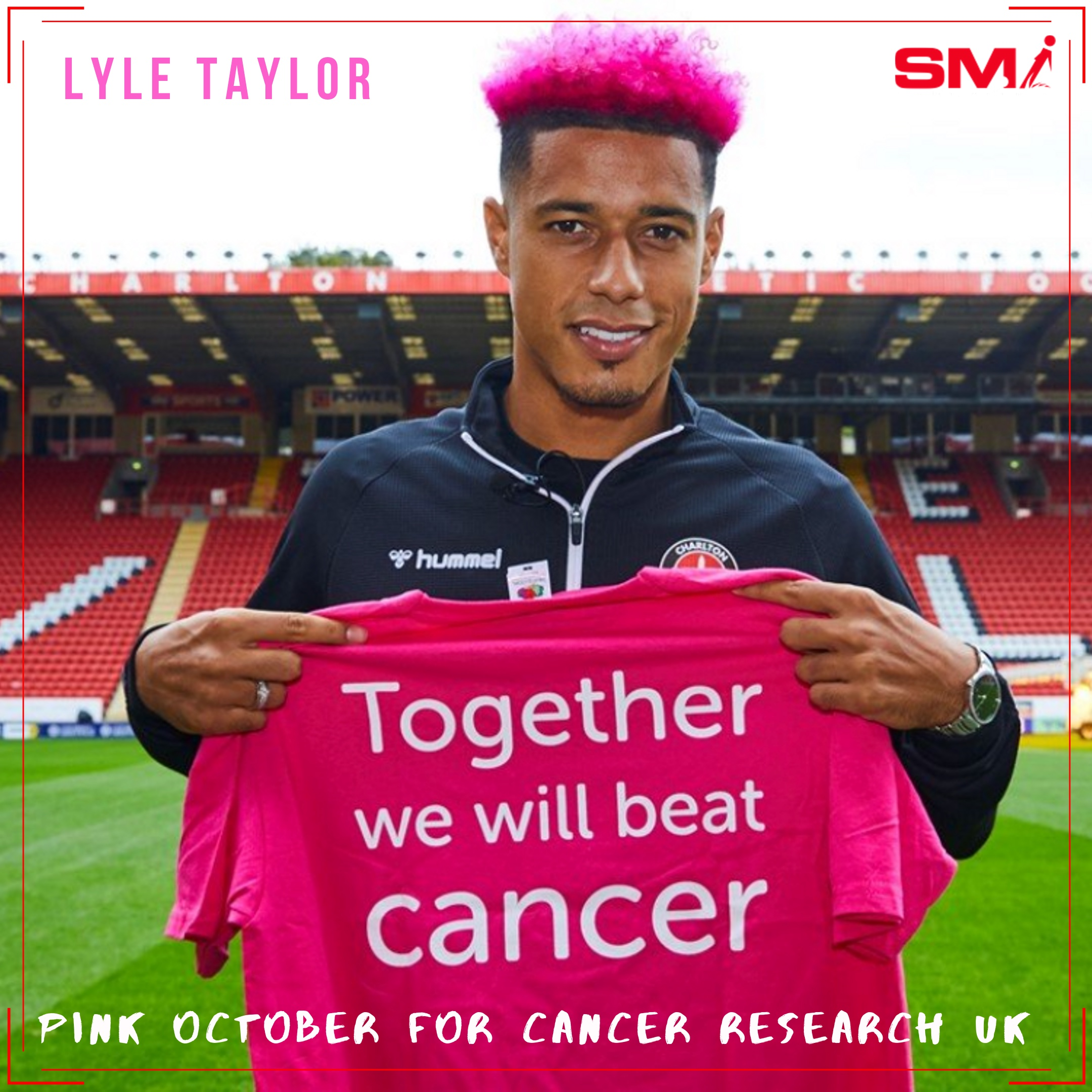 Lyle Taylor goes PINK for October