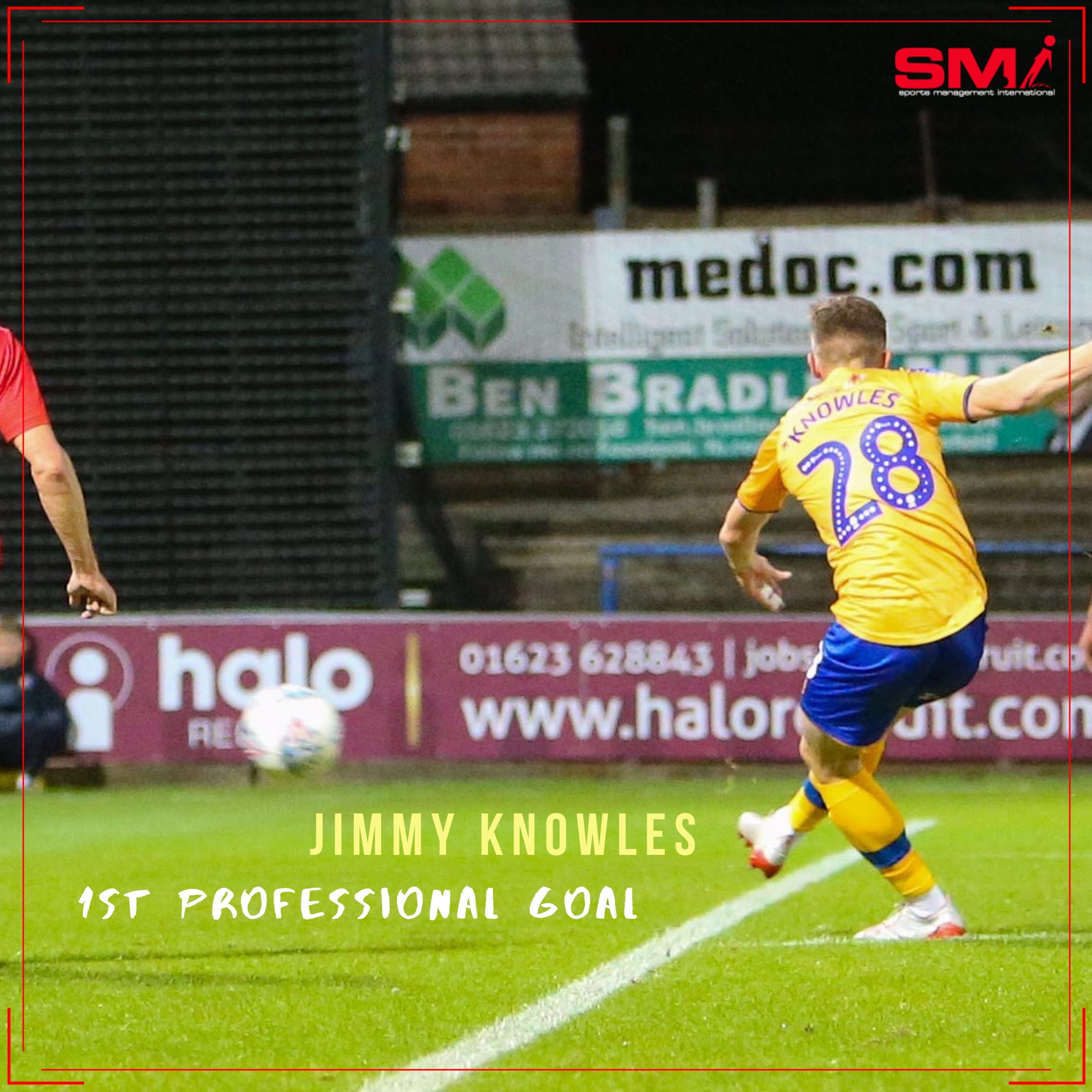 Jimmy Knowles 1st professional goal
