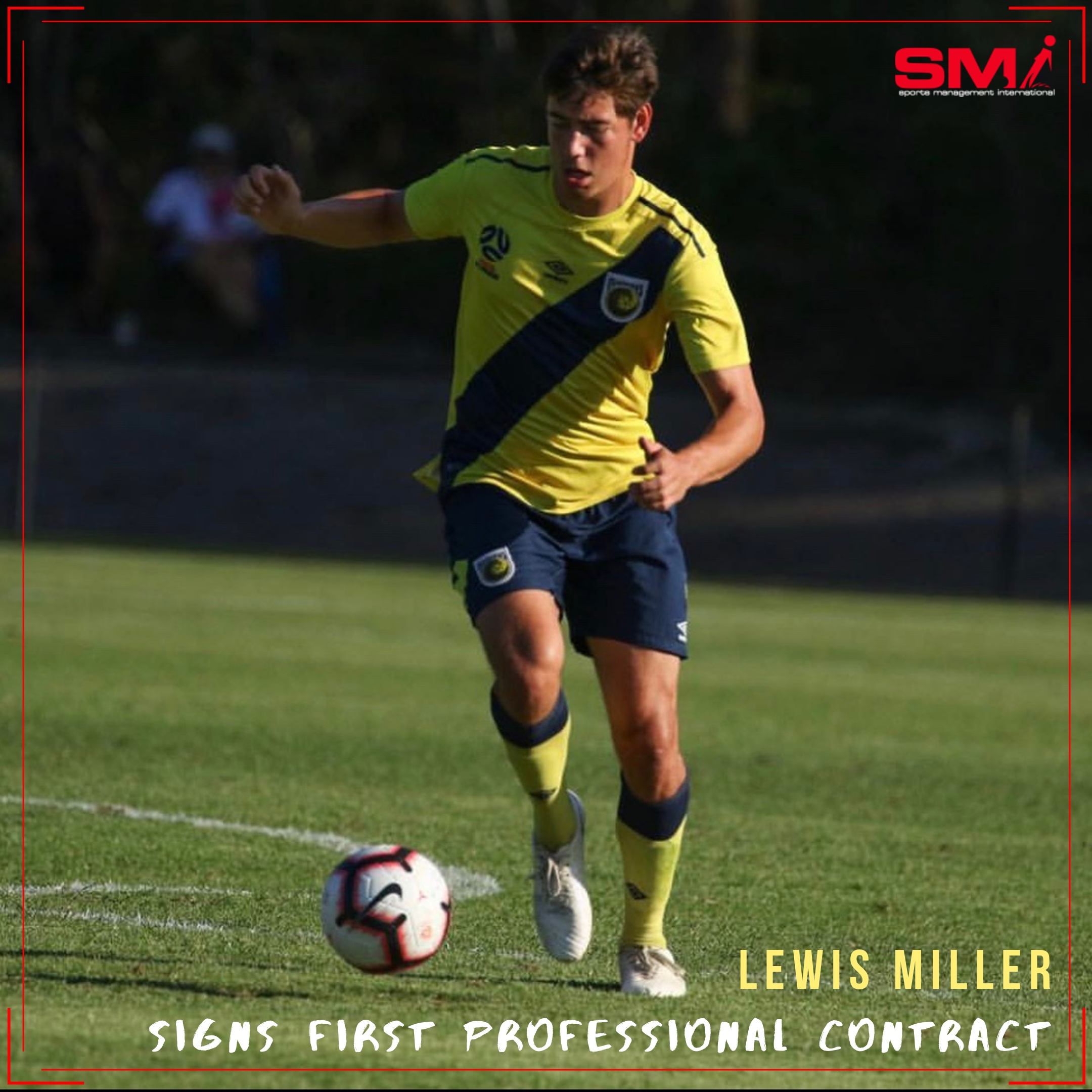 Lewis Millers 1st Professional contract