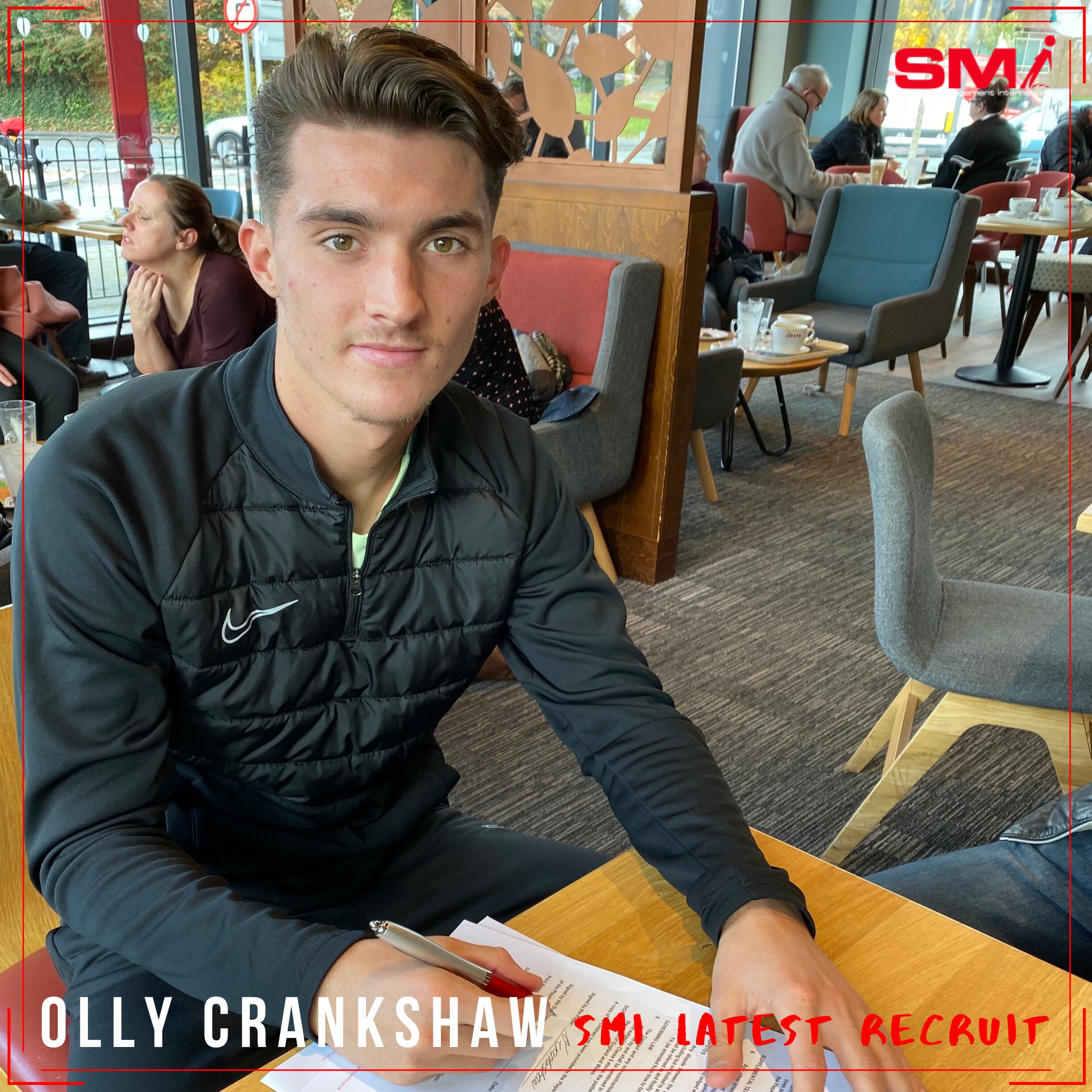 SMI newest recruit Olly Crankshaw