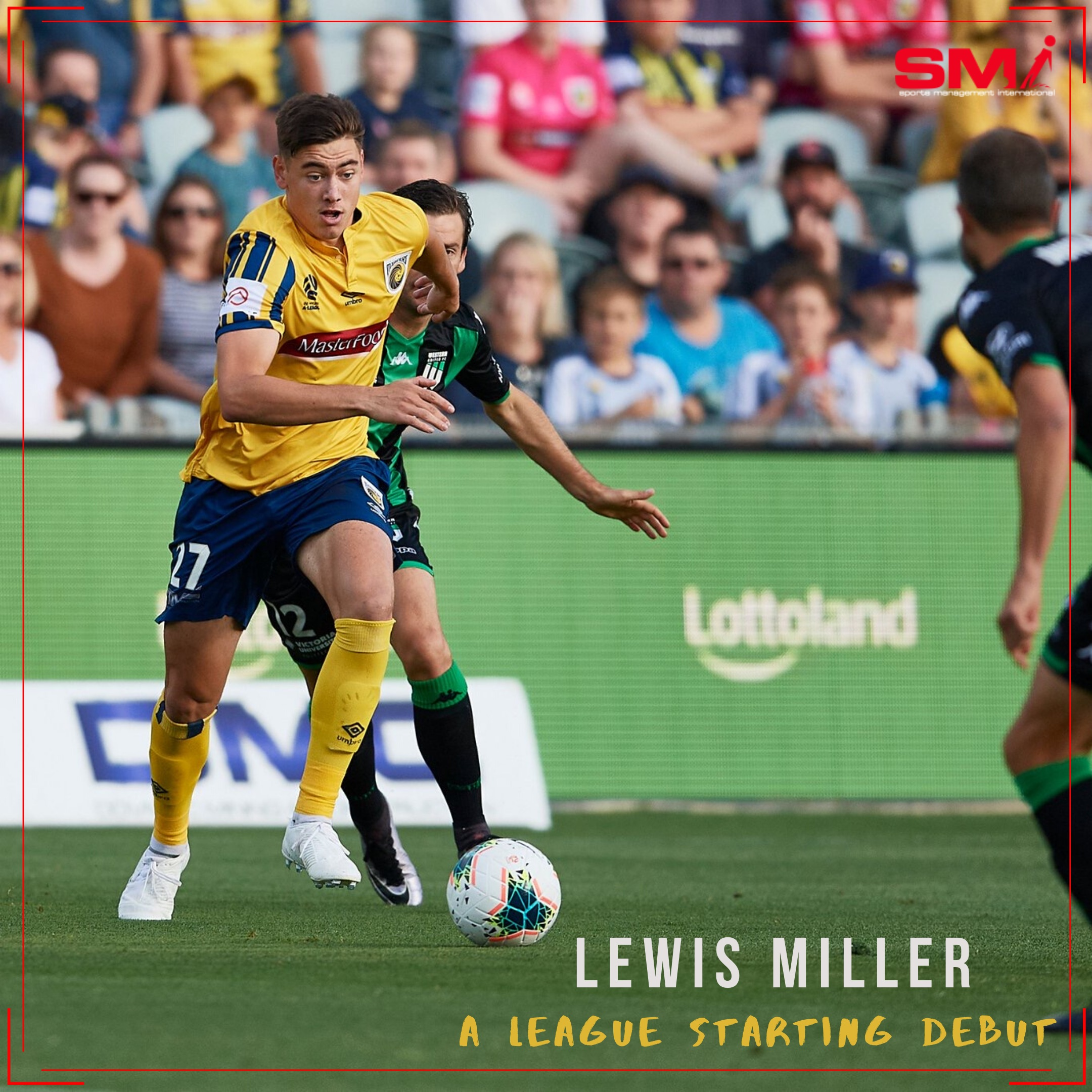 Lewis Miller starting Debut for Central Coast Mariners