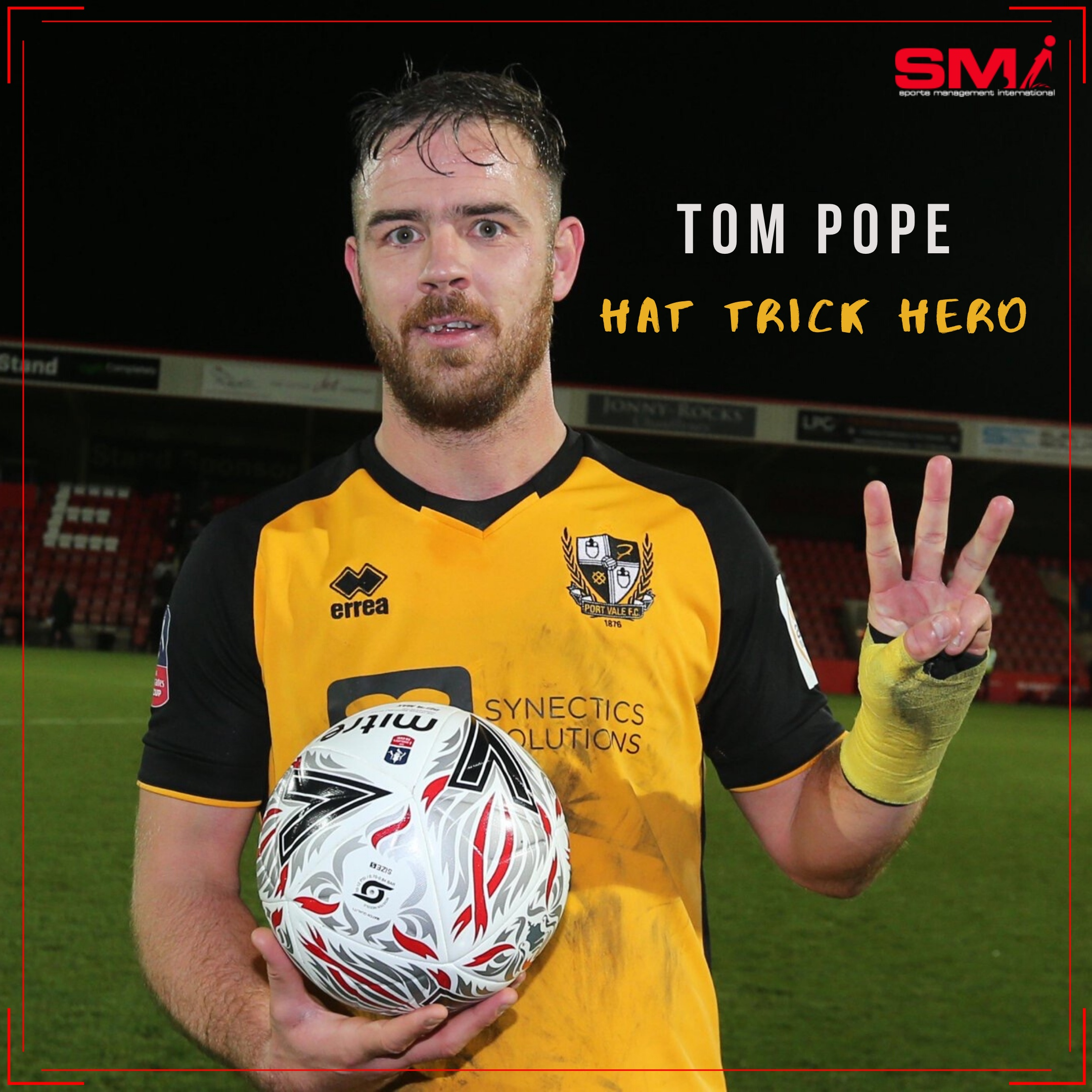 Another Pope hat trick takes them through to face Man City!