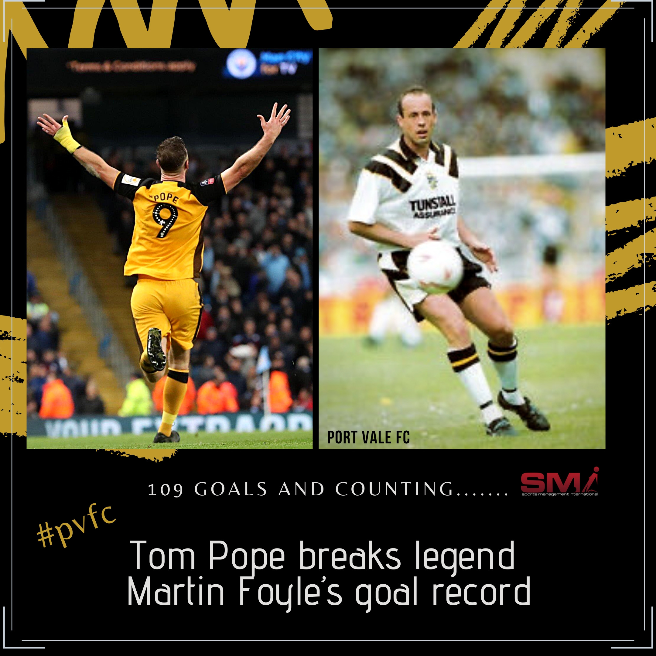 Tom Pope breaks PVFC goal record