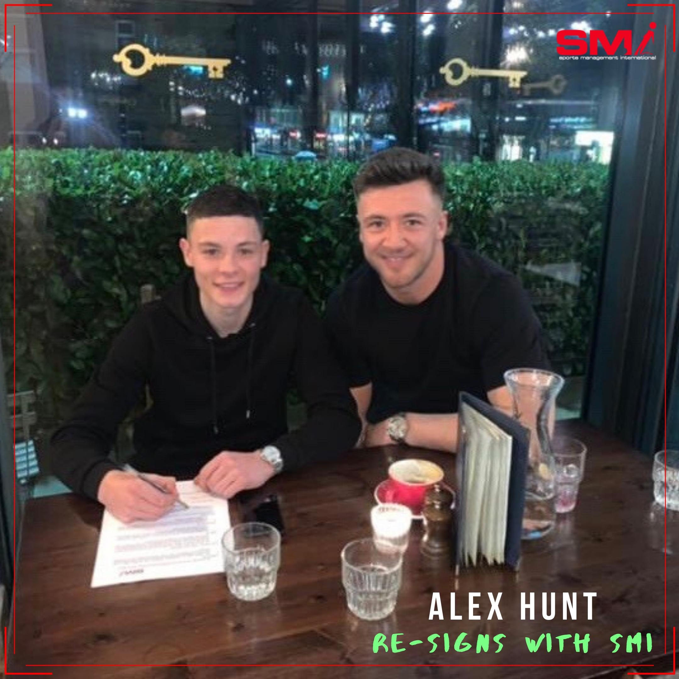 Alex Hunt re-signs