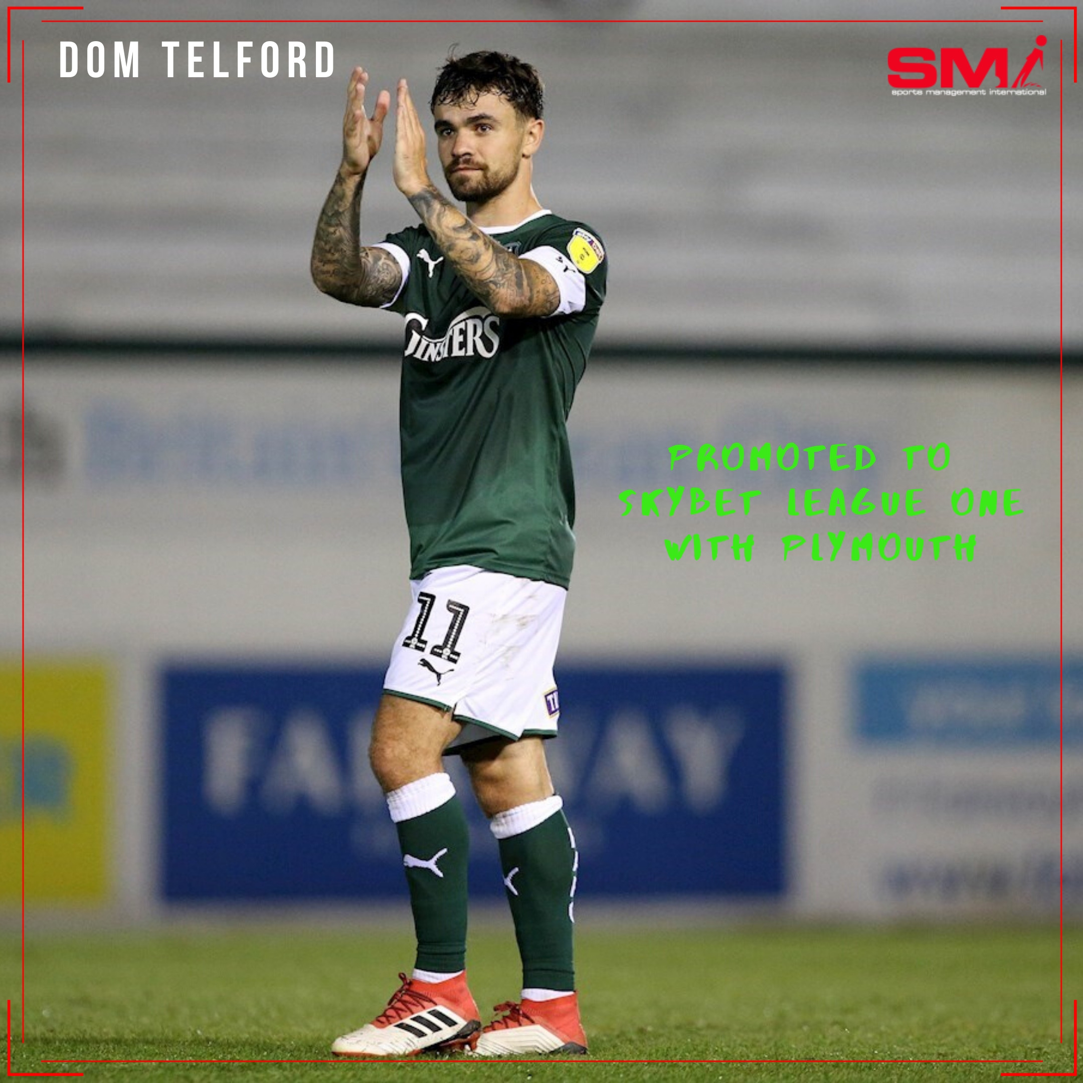 Dom Telford promotion