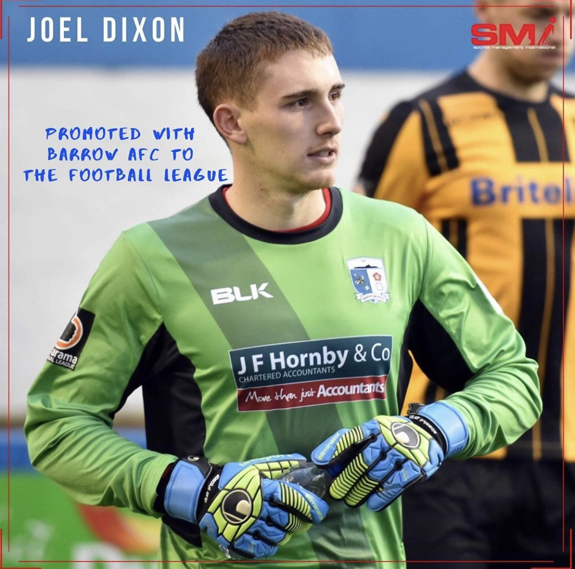 Joel Dixon promoted to League 2 with Barrow