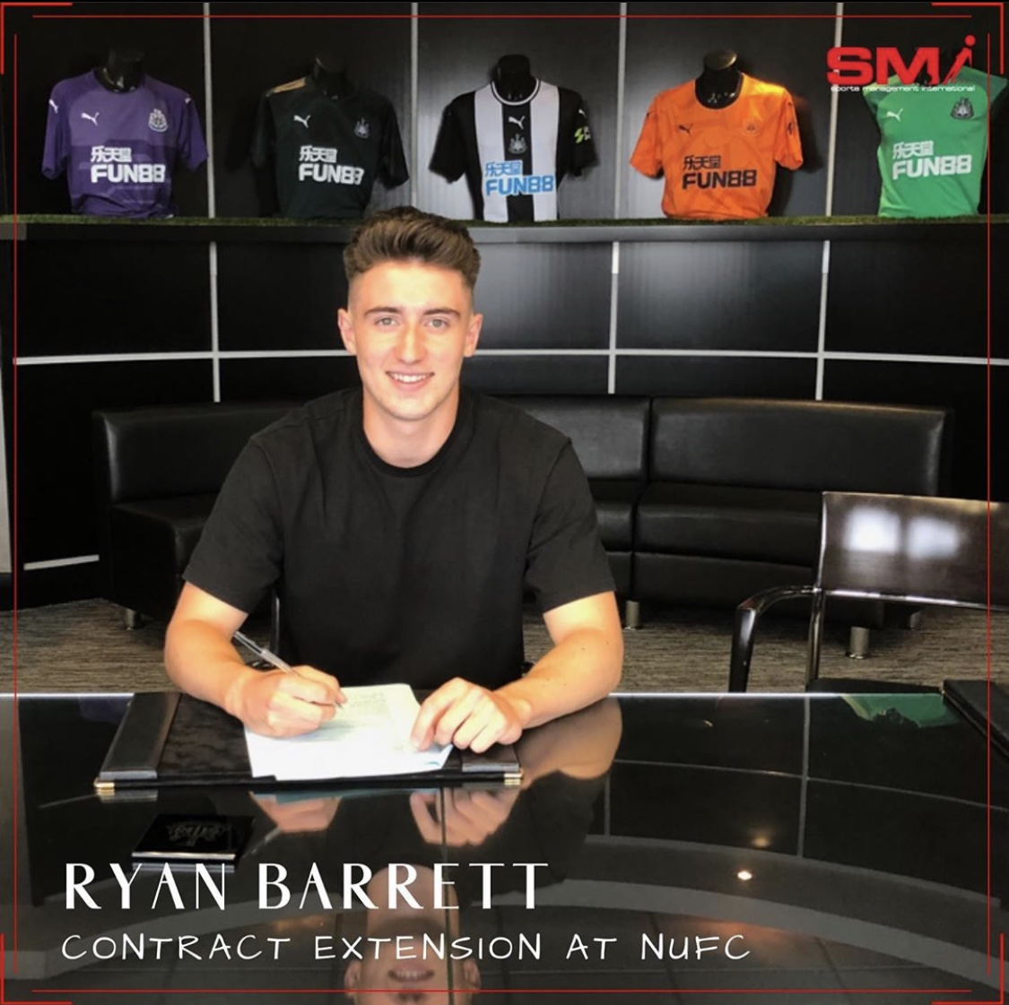 Ryan Barrett contract extension at NUFC