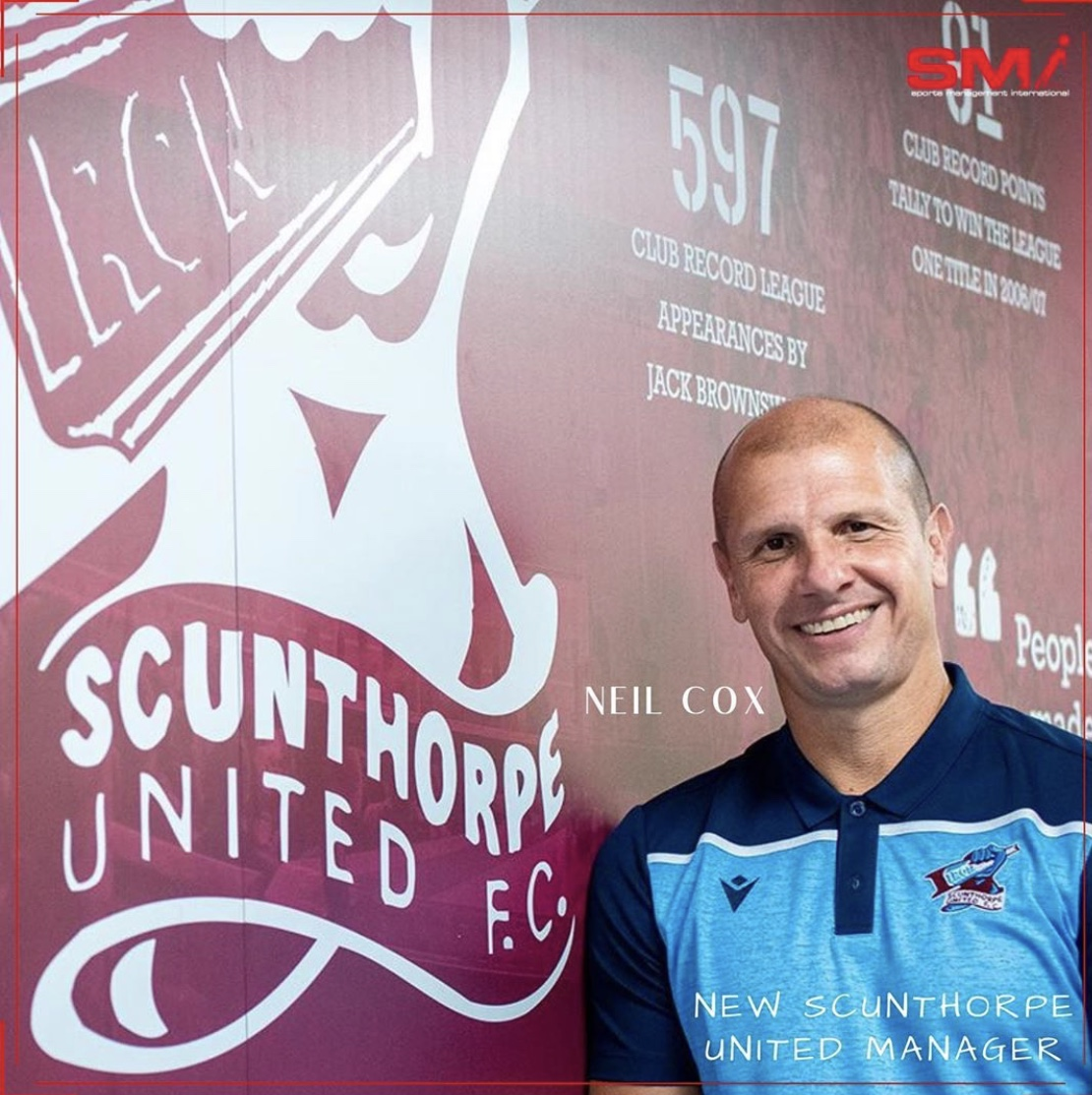 New Scunthorpe United manager Neil Cox