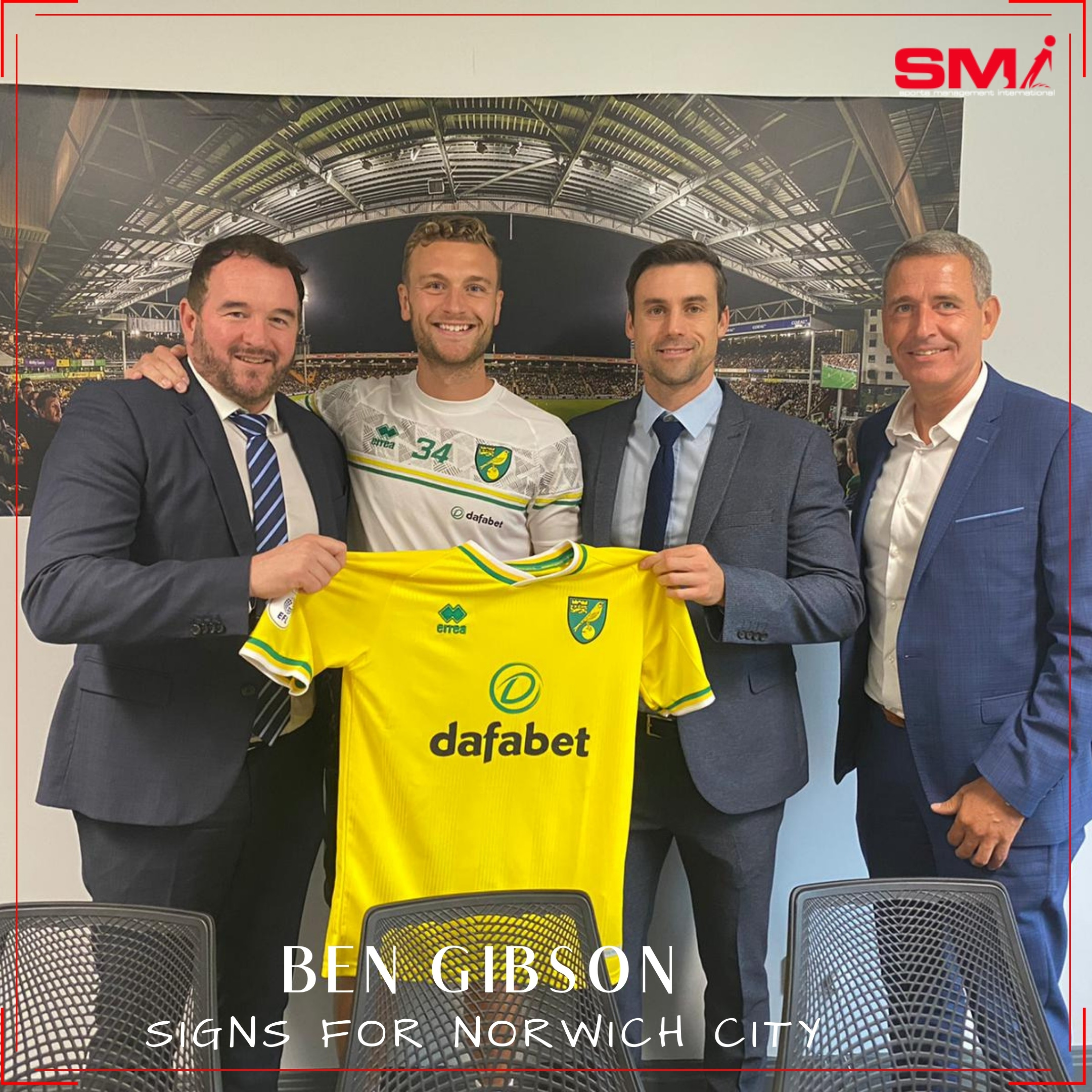 Ben Gibson, Norwich City's New Number 34