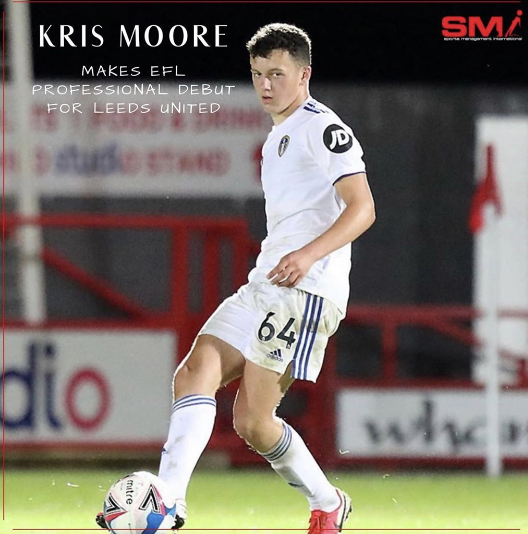 Kris Moore makes Leeds United debut
