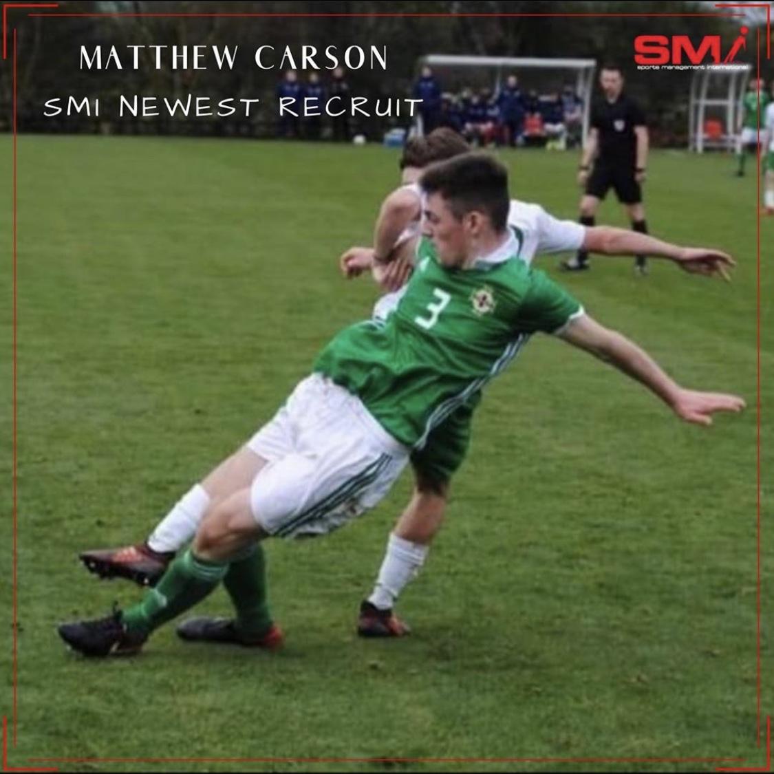 SMI new recruit Matthew Carson