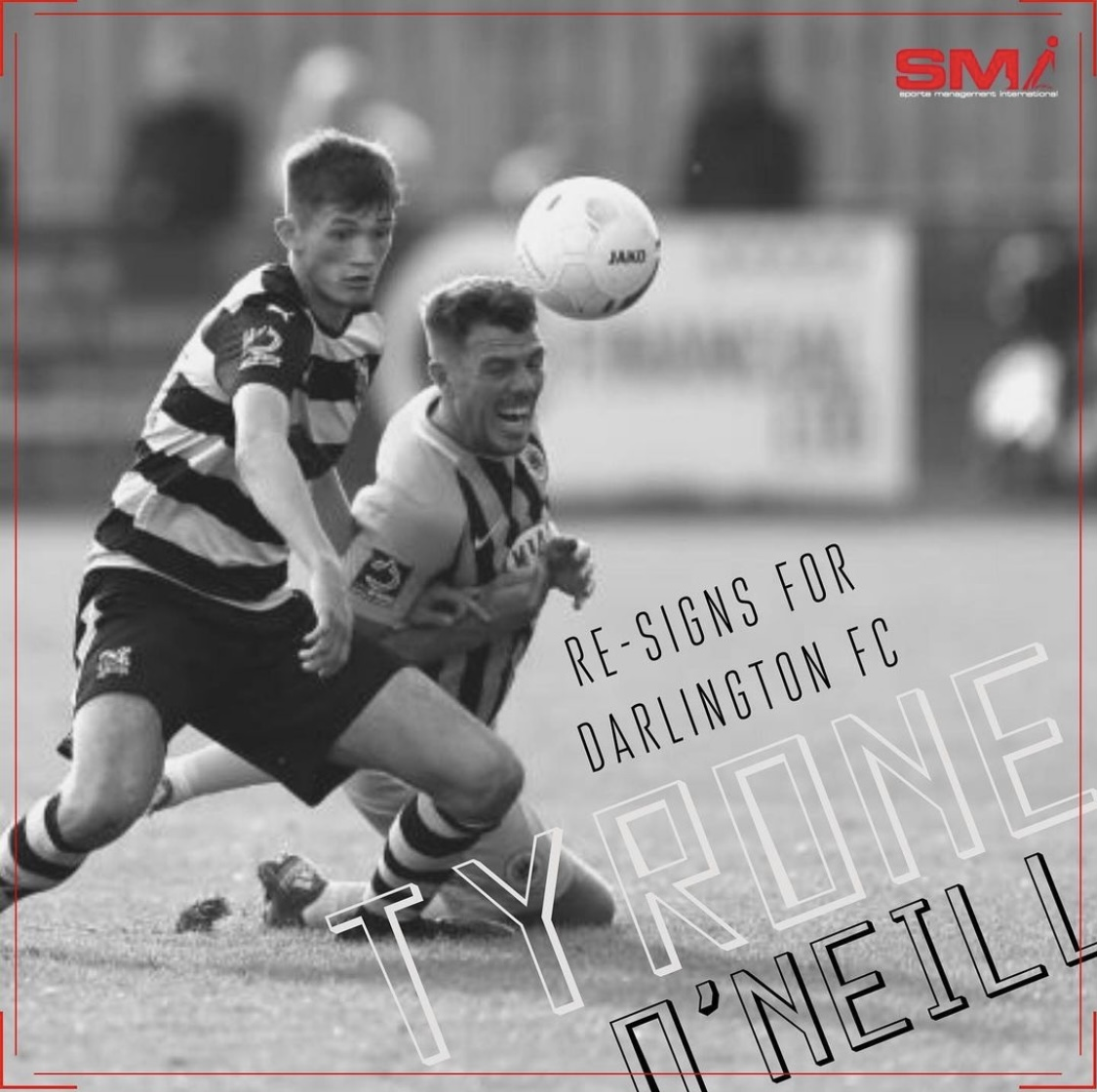 Ty O Neill re-signs on loan at Darlo