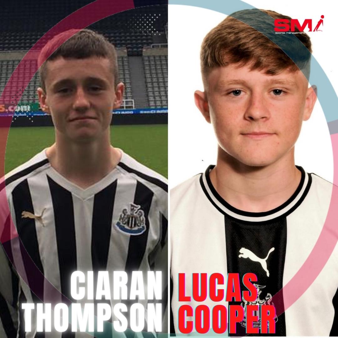 Ciaran Thopmson & Lucas Cooper offered scholars at NUFC