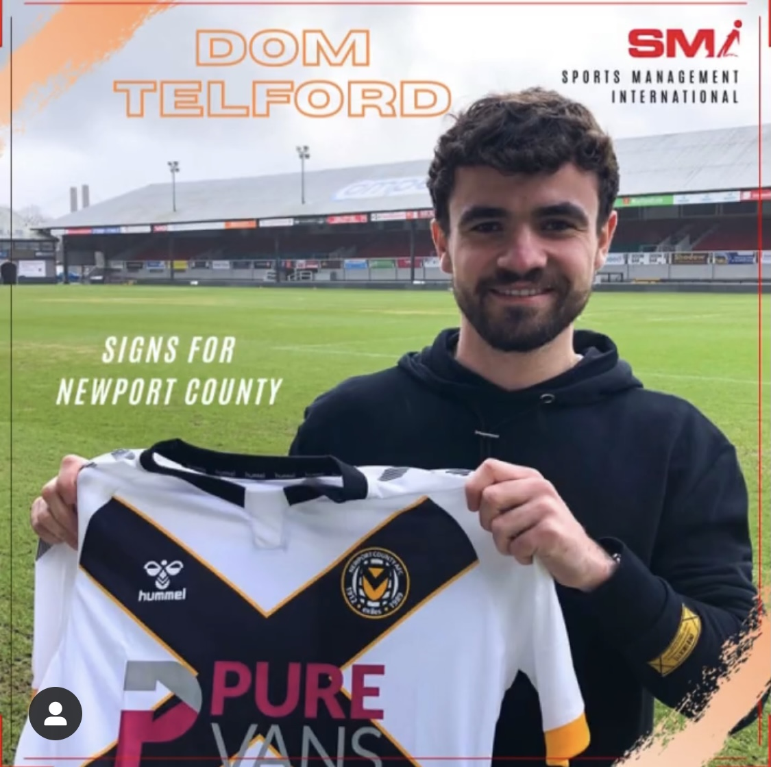 Dom Telford signs for Newport County
