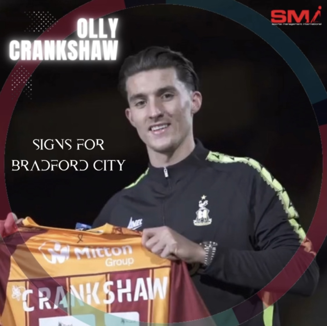 Olly Crankshaw signs for Bradford City