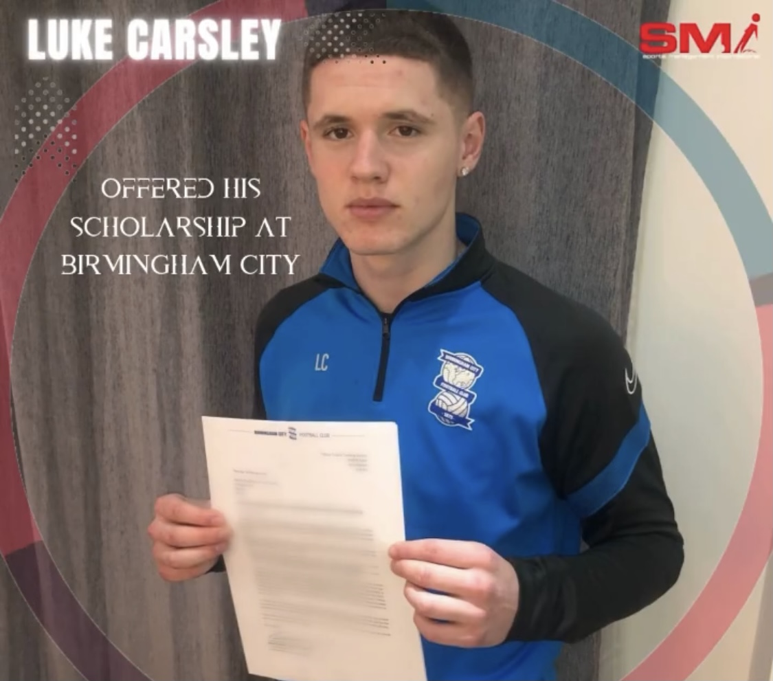 Luke Carsley offered scholarship at BCFC