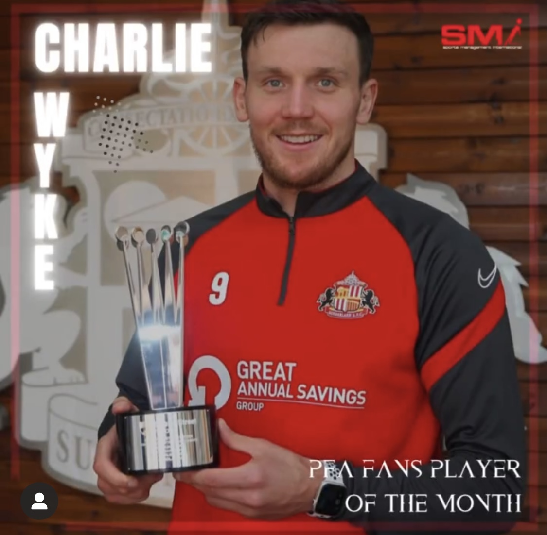 PFA Fans player of the Month Charlie Wyke