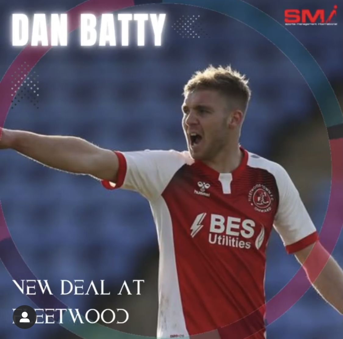 Dan Batty new contract at Fleetwood Town