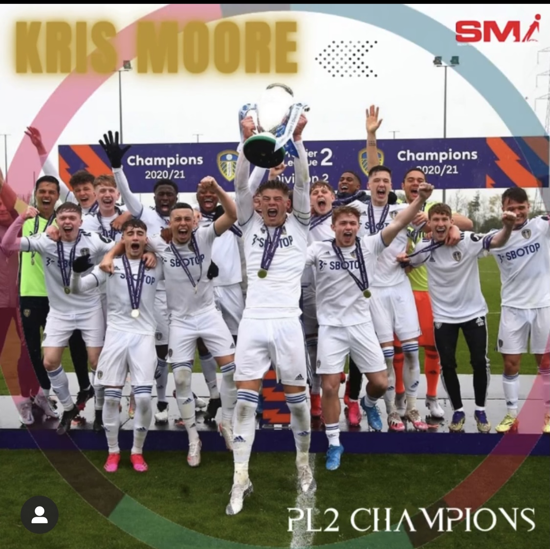 Kris Moore PL2 Champions with Leeds United