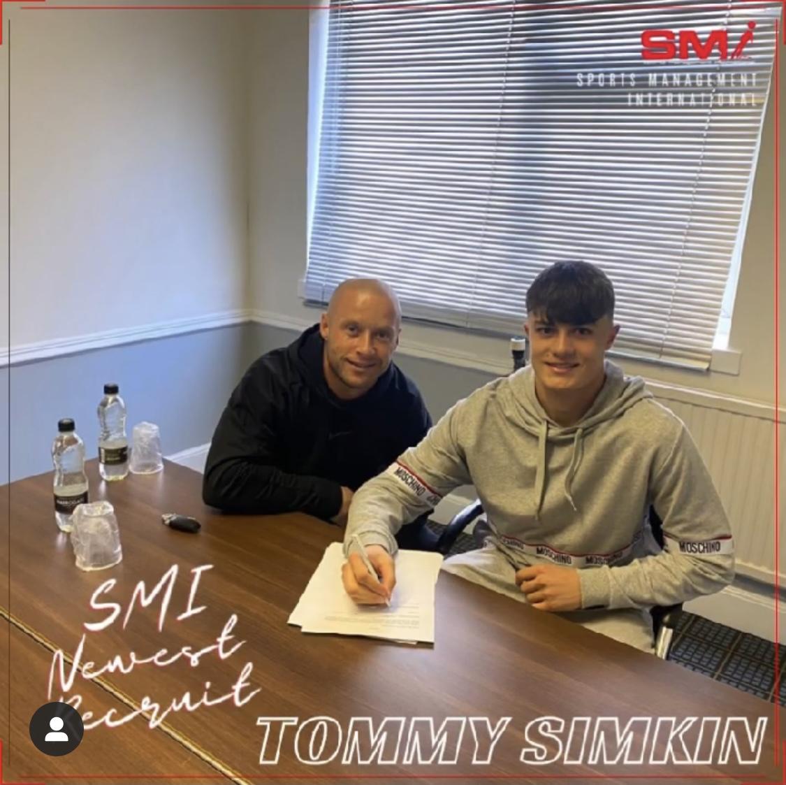 Tommy Simkin new SMI recruit