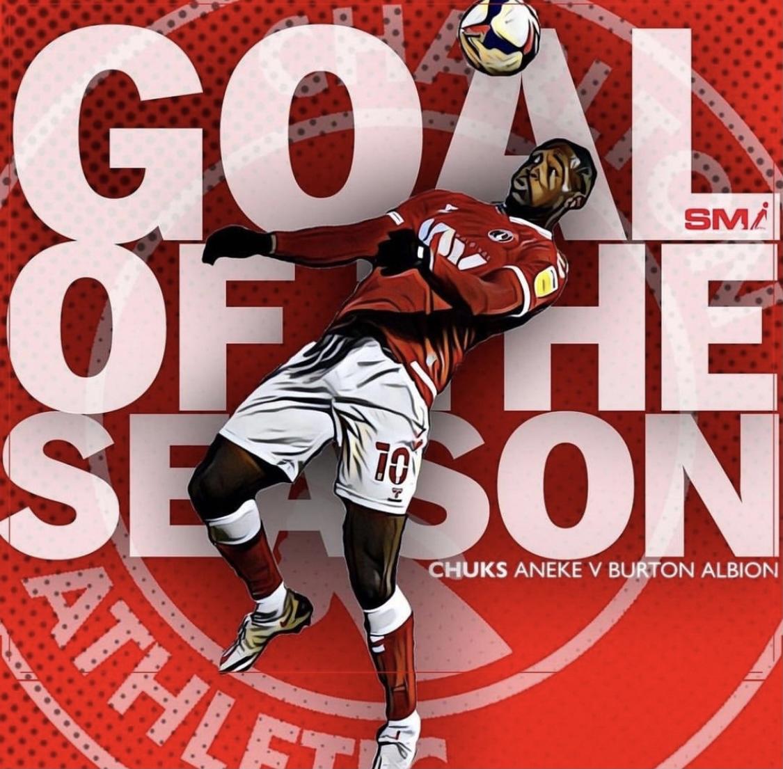 Goal of the season for big Chuks Aneke