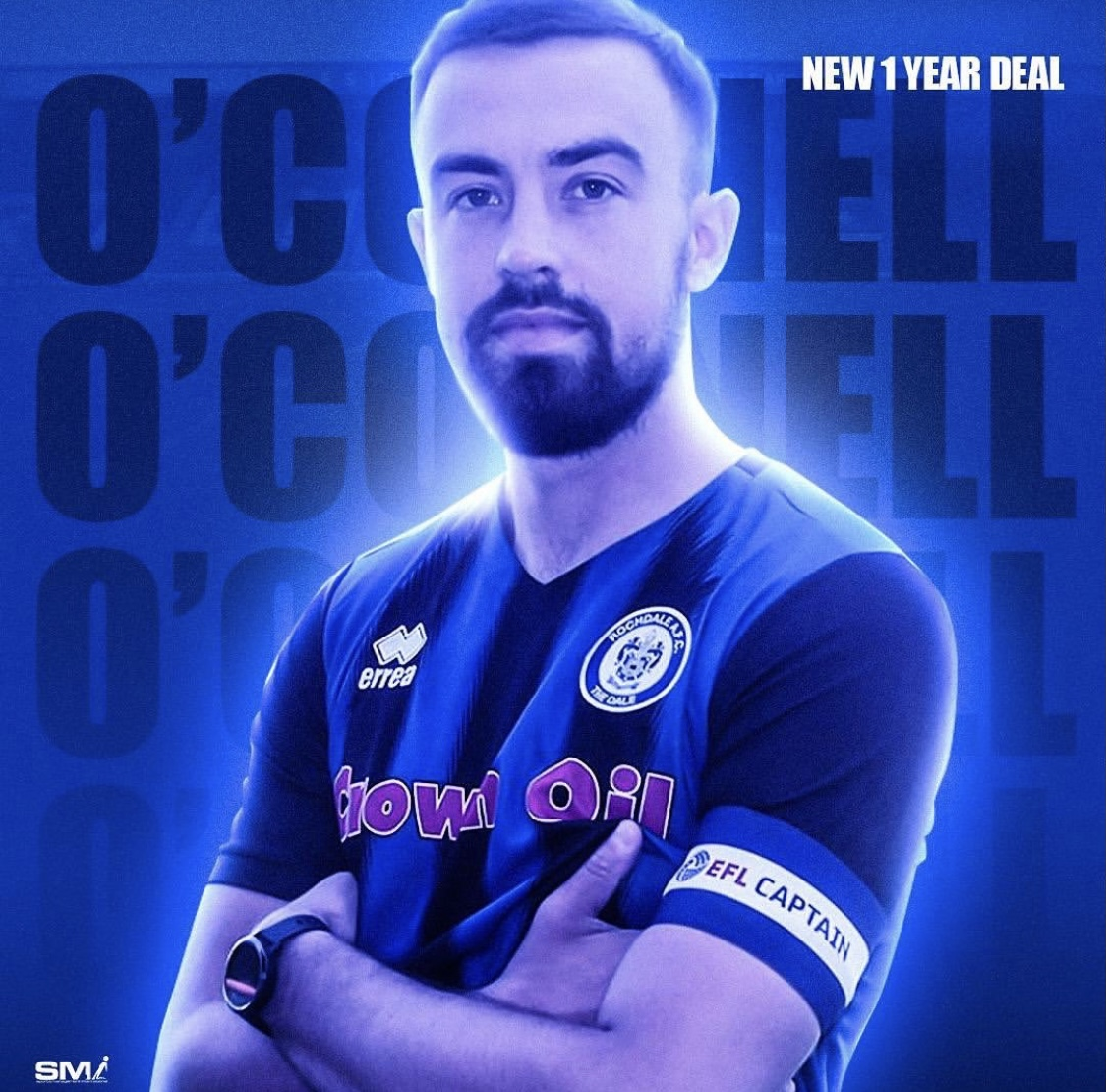 Eoghan O'Connell signs new deal at Rochdale