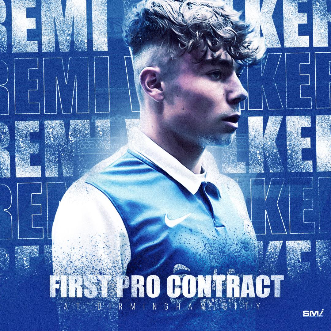 Remi Walker signs 1st professional contract