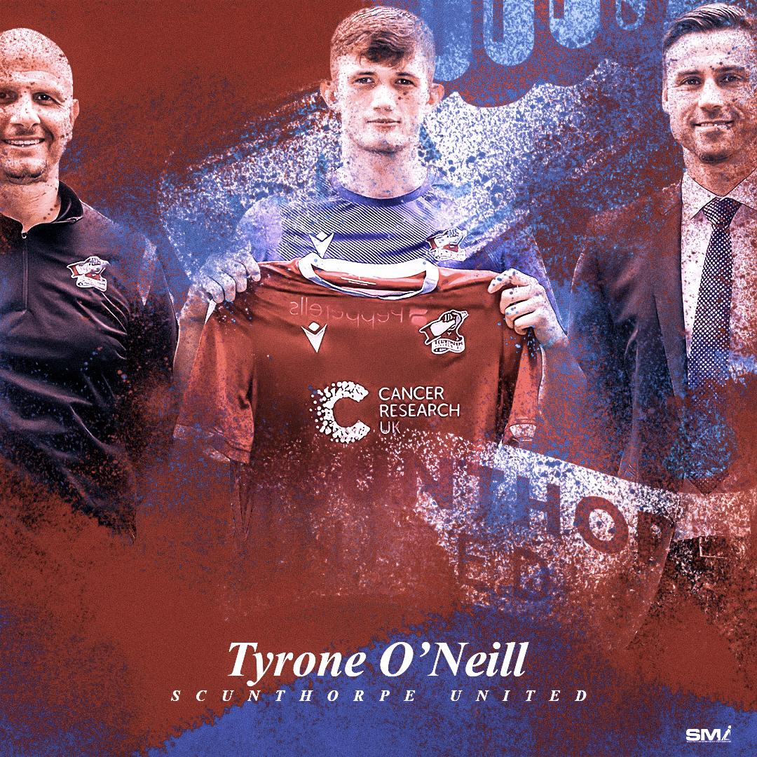Ty O'Neill signs for Scunthorpe