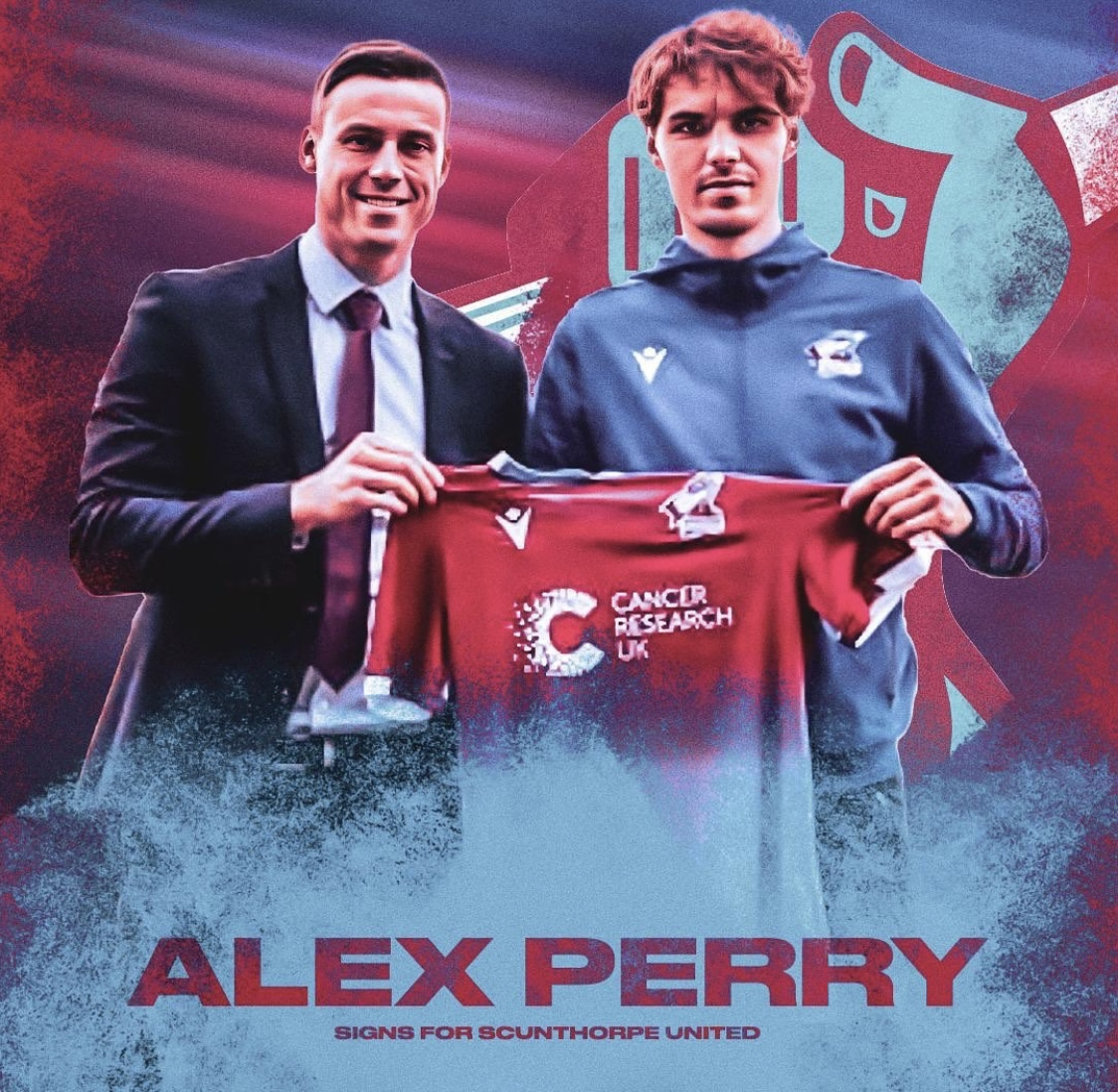 Alex Perry signs for the Iron