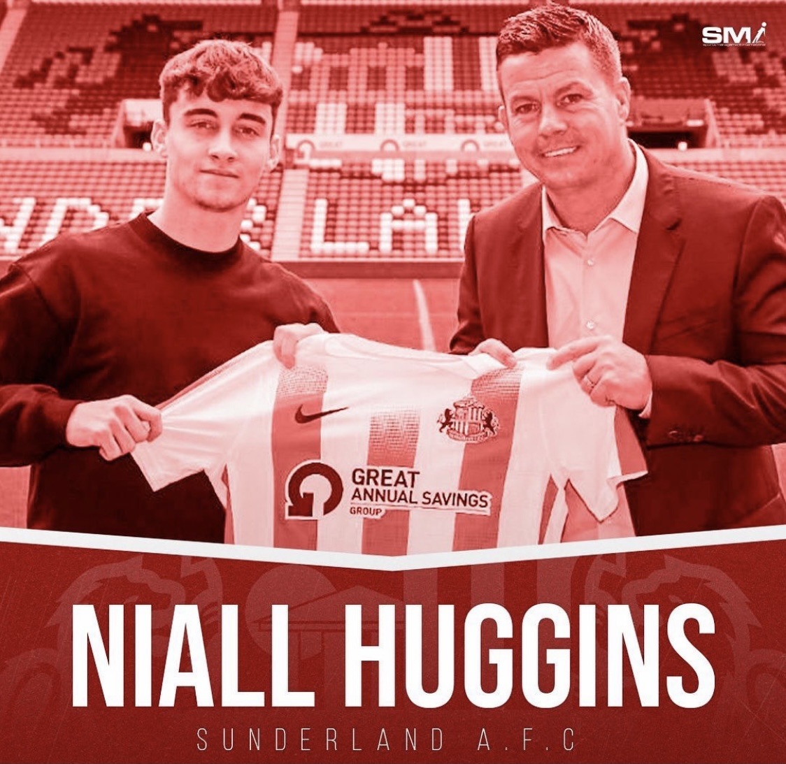 Niall Huggins big move to Sunderland