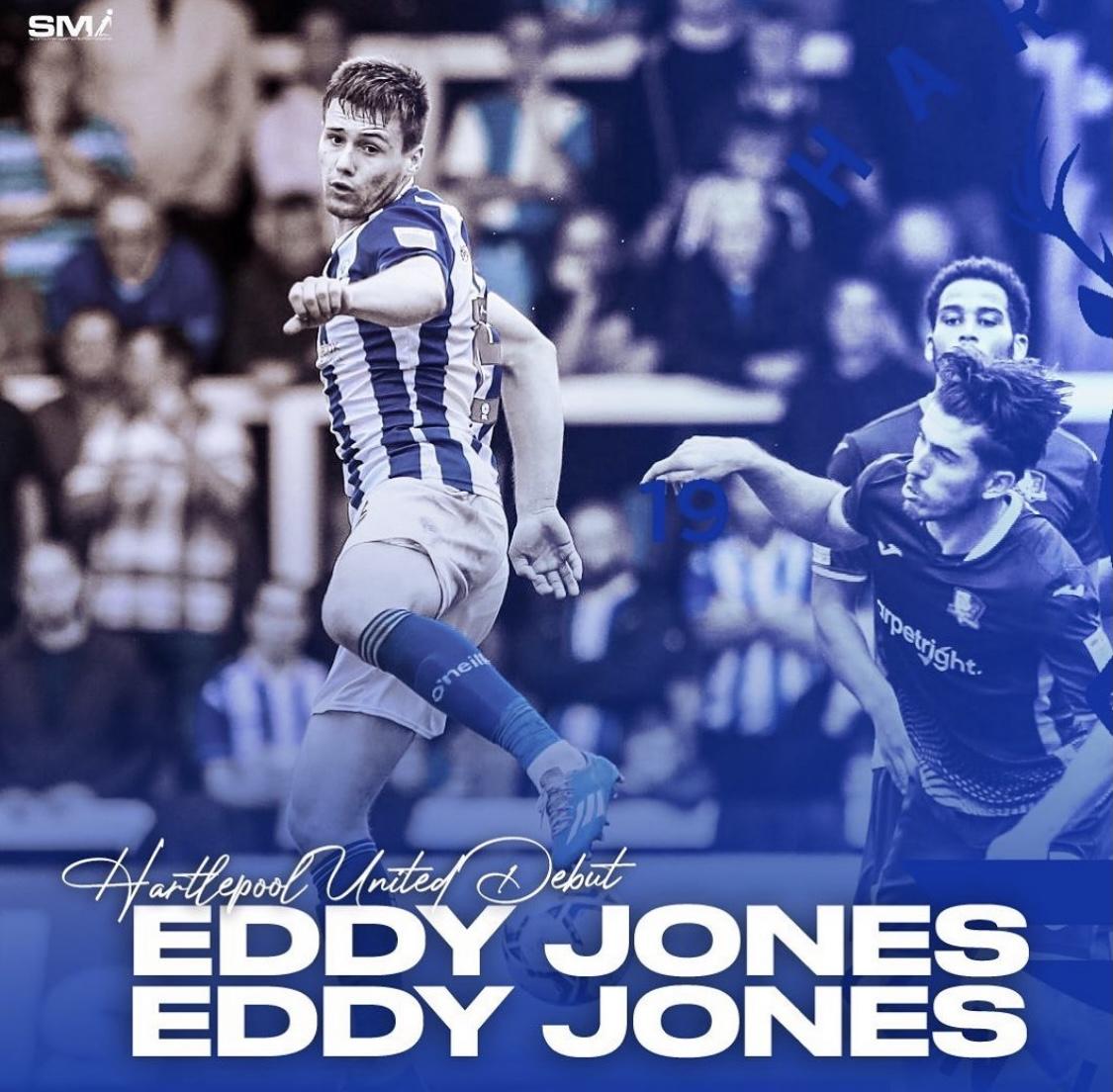 Eddy Jones hartlepool Debut